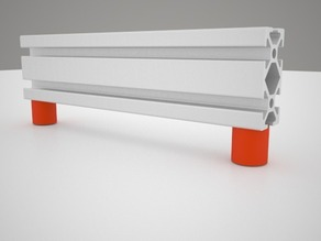 Desk support alluminium profile 2020