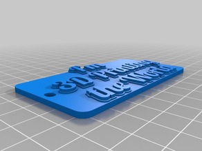 printing the worldTag or Keychain