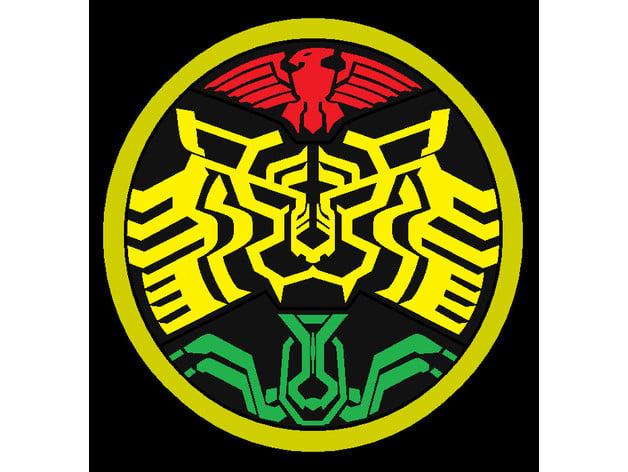 kamen rider ooo logo by karas000 thingiverse kamen rider ooo logo by karas000