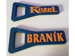 beer opener Kozel and Braník