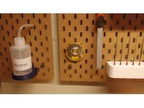 Ikea Skadis challenge coin holder