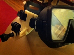 Easy-Install Gopro Scuba Mask Mount