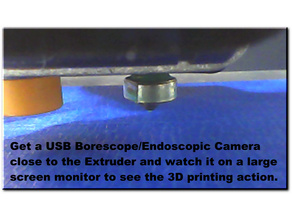 5.5mm Borescope/Endoscopic USB Camera mount for Printrbot Play.