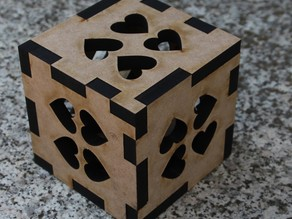 Treasure Heart Cube - Muttertag laser cut MDF