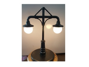 """Streetlamp """"Lantern Double-Head_Resized"""" Blub Cover & Stand"""