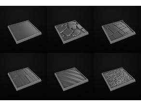 Square Base Miniatures. Peanas Cuadradas Miniaturas