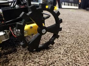 Spiked Wheel for TT motors (radius the size of motor housing)