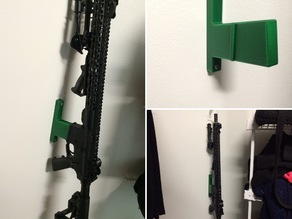 AR-15 vertical wall storage mount