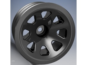 Tamiya Neo Fighter custom rims 1.9 inch no supports, one piece