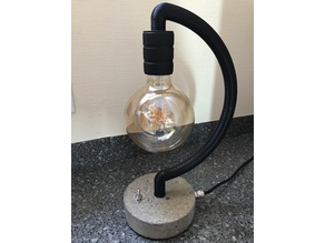 Concrete base desk lamp