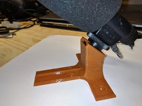 DSLR hotshoe microphone desktop stand