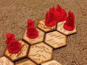 Pocket Tactics Laser cut tiles