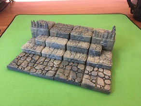Cavern Flat Steps /Ascends 2x2 (Openforge 2.0 compatible)