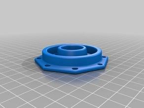 Fixation D.55mm bobine, tube de coulée électrique D. 20 mm