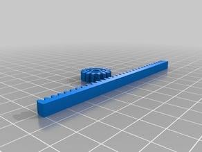 Door Parametric Gear Rack and Pinion