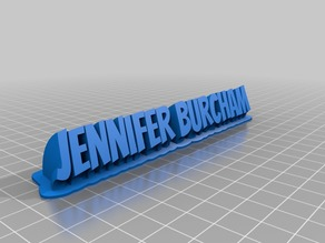 My Customized Sweeping 2-line name plate (text1)