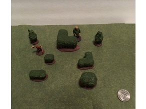 28mm Miniature Freeform Bushes