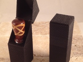 Presentation box to hold and display a custom turned bottle stopper