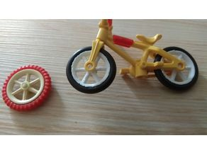 Compatible wheel/rim for Playmobil BMX bicycle
