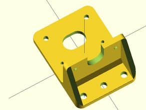 """Remix of i3v 10"""" Prus Makerfarm X-Carriage with rounded corners & fillet welds"""
