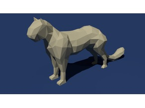Low Poly Cougar