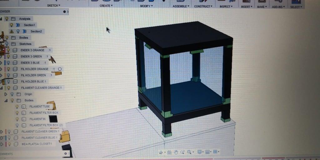 Creality3d Ender 3 Ikea Lack Enclosure With Ikea Ledberg Led