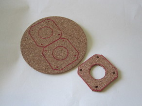 Printable template for cork board motor spacers