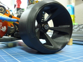 Drift Wheels 1:10 Scale 5-Spooks Diameter 64mm