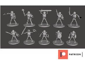 Skeleton Beastman Warriors - Melee Dog Soldiers