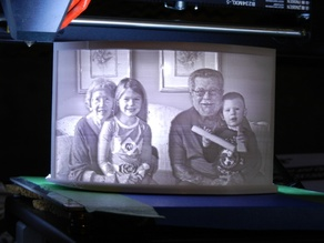 Lithophane frame and LED mount