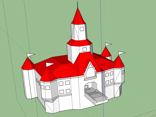 Princess Peach S Castle By Yoshiman6464 Thingiverse