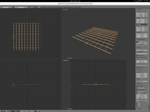 Test / calibration grid for x y scale correction