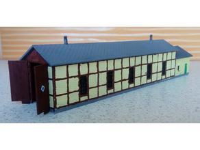 MiniRailway Small Depot (customizable)