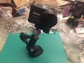 Nikon KeyMission ball socket mount to GoPro