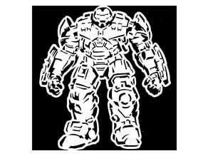 Hulk Buster stencil