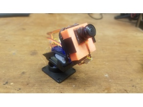 Tilt and Pan block for Runcam Nano (30mm x 30mm)