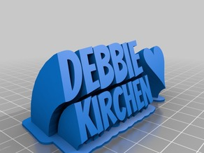 Debbie K 2-line name plate (text)