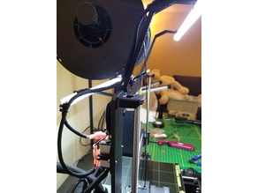 Prusa MK3 LED front mount for bar light