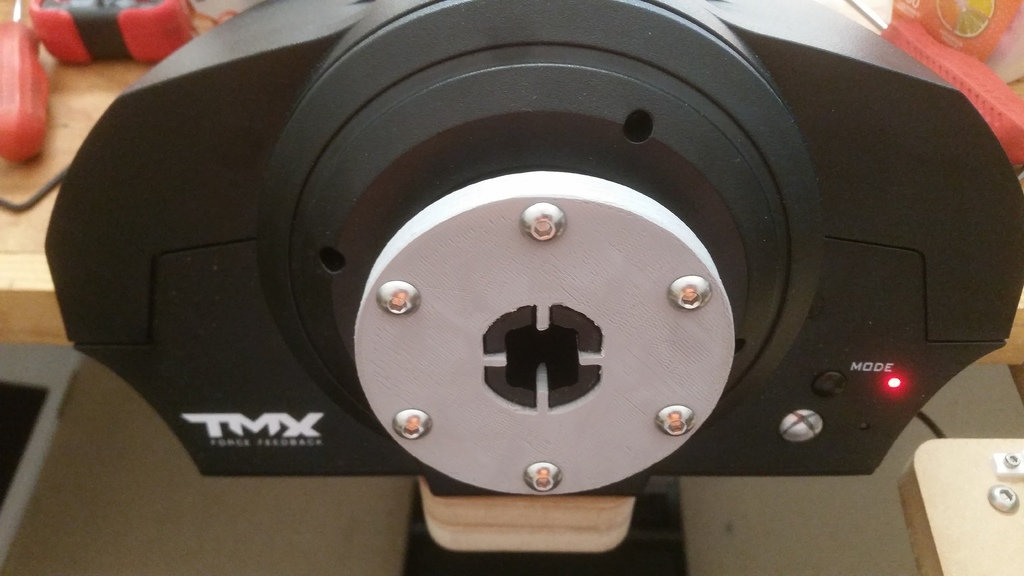 Thrustmaster TMX/T150 wheel adapter by whemming - Thingiverse