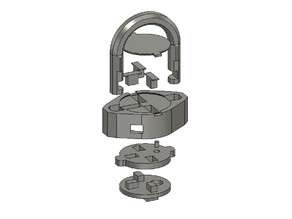 Fully Printable Padlock