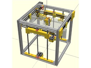 Cubic - Yet Another cube-shaped DIY printer, designed in OpenSCAD