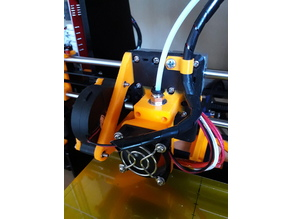 Improved Customizeable Anet A8 E3D v6 E3Dv6 Carriage with 40mm Fan Mount