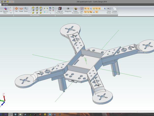 250 Quadcopter Multirotor frame for kk2.1 and kk2.0 board by ...