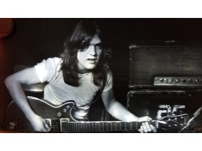 Malcolm Young Lithophane