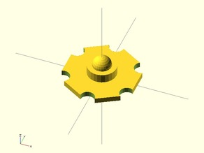 1W star LED model in stl and openscad