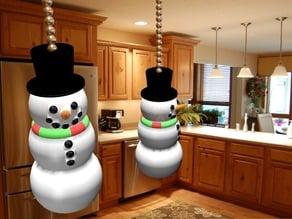 Snowman Light Pull