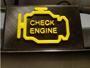 Check engine and check oil signs
