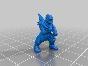 18mm orcs for D&D in dynamic pose with great weapons