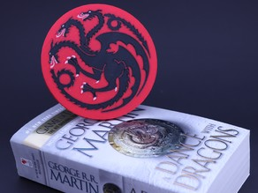 Multi-Color Game of Thrones Coaster - House Targaryen