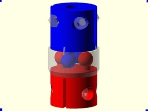 Elastomeric Coupling 0v0: 5mm stepper motor to 8mm threaded shaft
